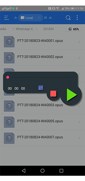 Opus Player listen voice notes file manager